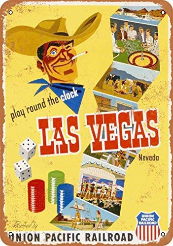 (ACOVE 1952 Union Pacific to Las Vegas Vintage Look Metal Tin Sign - 10x14 inch)