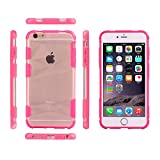 iPhone 6S Case, iPhone 6 Case,[Sport Series] [PC Material Hard Case] Hybrid Matte Protective Case for Apple iPhone 6S / 6 [Impact Resistant Bumper] -Pink