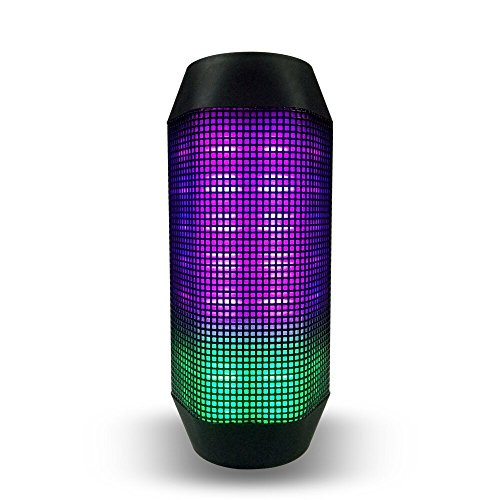 KZY 10W Hi-Fi Wireless LED Bluetooth Speaker Portable With Colorful Lighting and Power Bank NFC Pairing Support Hands-free