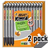 BIC Xtra-Life Mechanical Pencil, Medium Point (0.7 mm), 40-Count 2 Pack