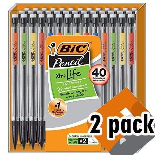 BIC Xtra-Life Mechanical Pencil, Medium Point (0.7 mm), 40-Count 2 Pack by BIC (Image #5)