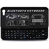 iMounTek Bluetooth Sliding Keyboard Buddy iPhone 5 Case - Backlit Edition - Rubberized Hard Shell Case with Integrated Apple Commands and Backlight Keys (Black)