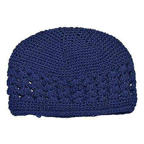 LONIY Newborn Baby Girl Kids Cute Crochet Hat Winter Autumn Fashion Knitted Beanie Cap,Deep Blue