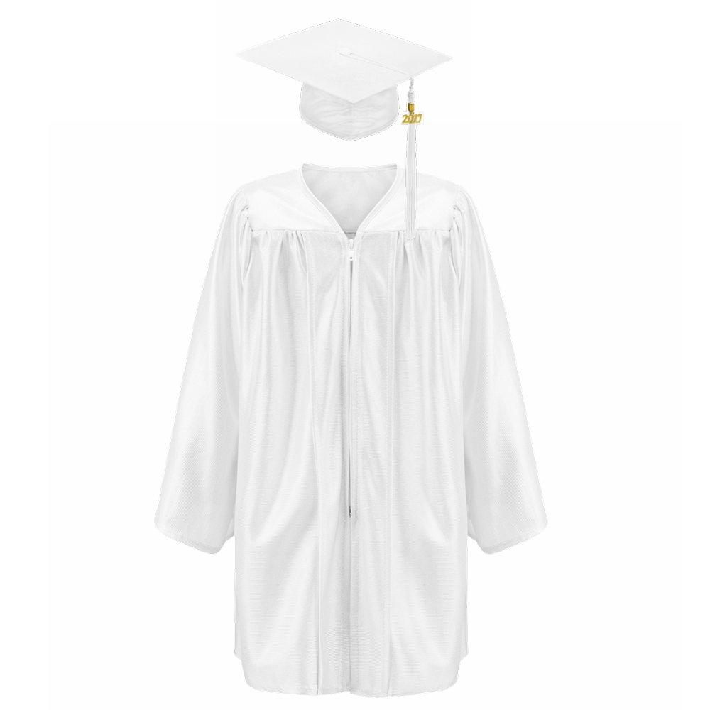 Annhiengrad Unisex Shiny Kindergarten Graduation Gown Cap Tassel