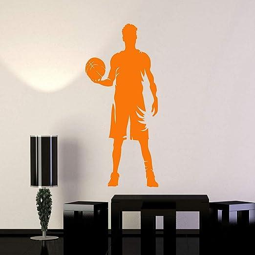 YuanMinglu Jugador de Baloncesto Silueta Vinilo Apliques de Pared ...
