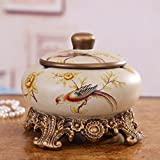 LT American country ceramic ashtray resin creative living room study office decoration European style