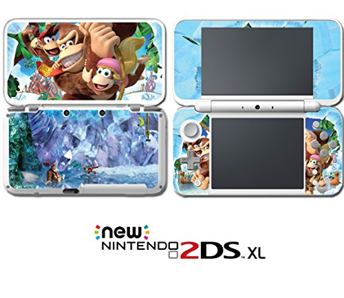Donkey Kong Country Tropical Freeze Diddy Dixie Video Game Vinyl Decal Skin Sticker Cover For Nintendo New 2Ds Xl System Console