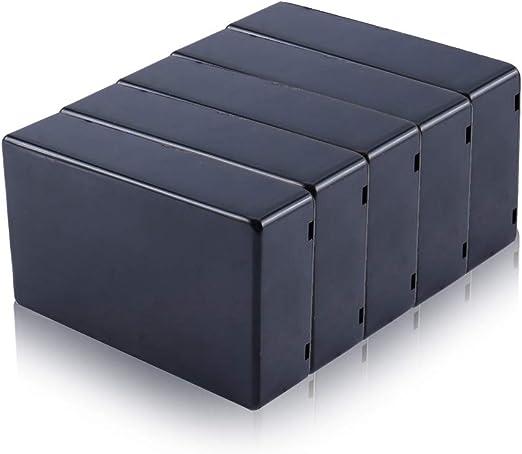 Yosoo 5 pcs 100 x 60 x 25 mm Negro Cubierta de plástico proyecto ...