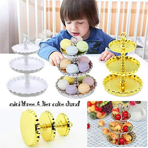 HATABO Cake Doll Cakes Mini Mini Three-Tier Cake Stand Doll House Accessories (Random)
