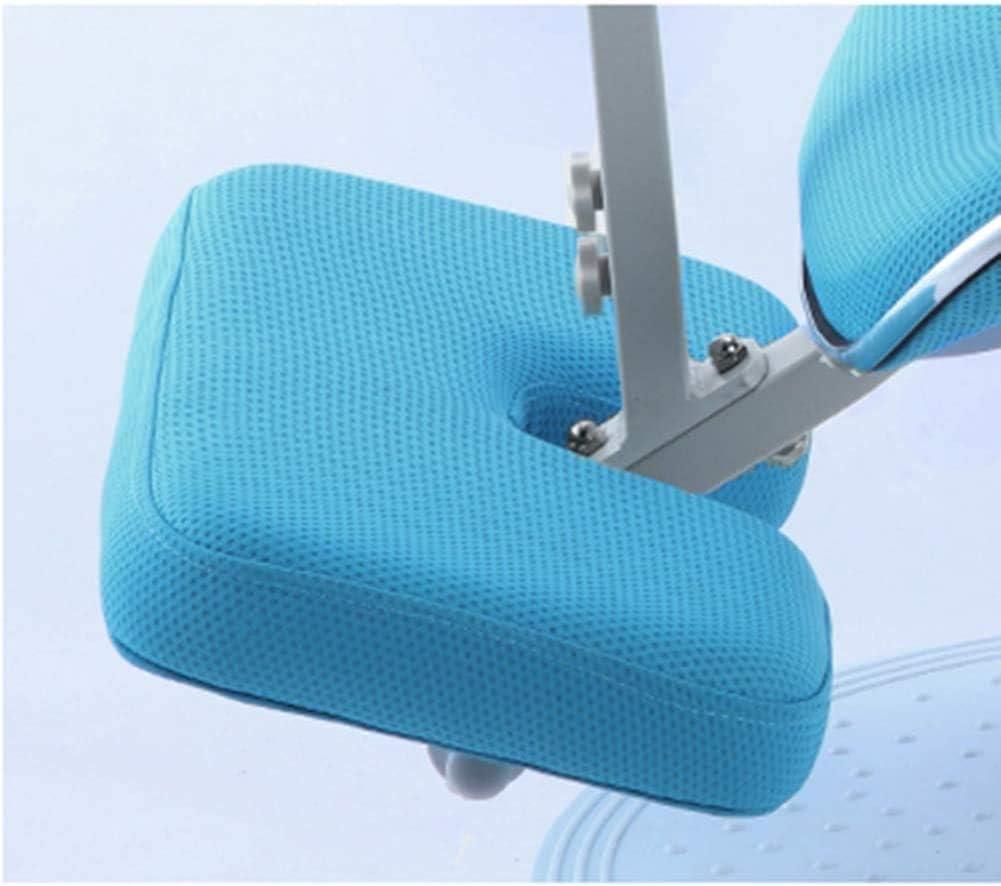 LDM Sedia da scrivania per correzione Postura Sgabello ergonomica in Ginocchio Cuscino Confortevole e Traspirante Apprendimento per Bambini Regolabile Sedia inginocchiata Rosa Blue
