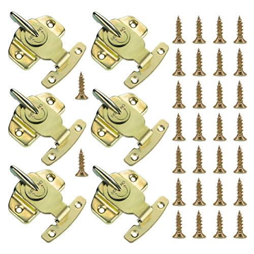 6 Pieces Dining Table Locks, Cooyeah Training Dining Table Connector Door Drawer Cabinet Buckle Hardware Accessories with 30 Pieces Screws. ()