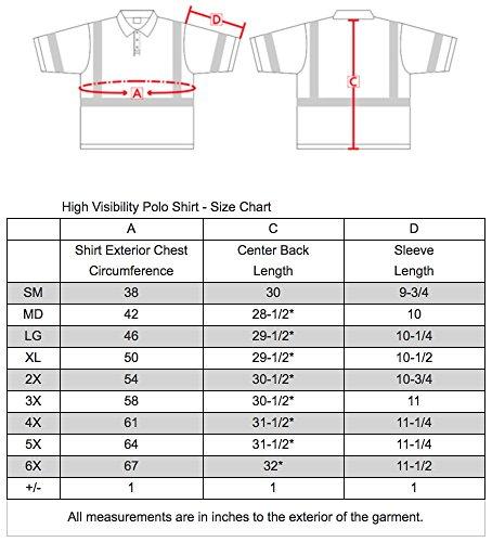 Brite Safety Style 221 Hi Vis Polo Shirt | Short-Sleeve Safety Shirt | 3M Scotchlite Reflective Tape | Birdseye Moisture Wicking Fabric | ANSI Class 3 | for Men & Women (L, Hi Vis Yellow)