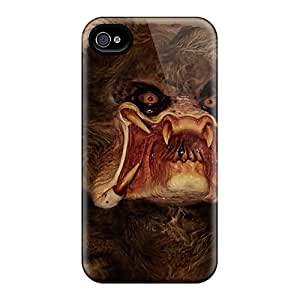 Anti-scratch And Shatterproof Predabear Phone Case For Iphone 4/4s/ High Quality Tpu Case