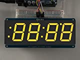Adafruit 1.2'' 4-Digit 7-Segment Display w/I2C Backpack - Yellow [ADA1269]