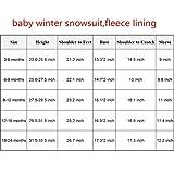 TeenMiro Baby Winter Jumpsuit Newborn Fleece Romper Infant Snowsuit Pattern Pink Blue 0-24 Months