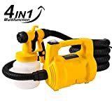Rapesee 4 in 1 Electric HVLP Spray Paint Gun Sprayer 650W 30000/min HVLP Paint Sprayer, Multi-function Spray Paint, Vacuum Cleaner, Inflator, Compressor Pump