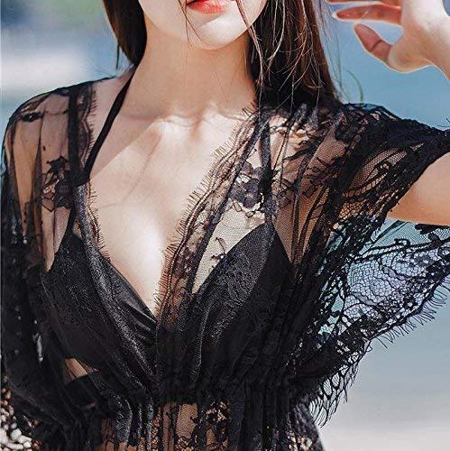 Blanche De Dentelle Manteau Bain Montré Comme Anti Blanc Coloré Fine Bikini Trois Couvrir Pièces Unique Maillot Taille Vidéo Couverture Noire dessèchement M dXZxHd