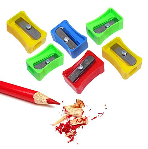 Smart Hand Hole Pencil Sharpeners Bulk (6 pcs, assorted color) (Exacto Knife Lid compare prices)