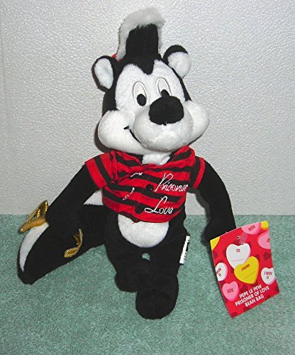 Warner Brothers Pepe Le Pew Valentines Prisoner of Love Plush