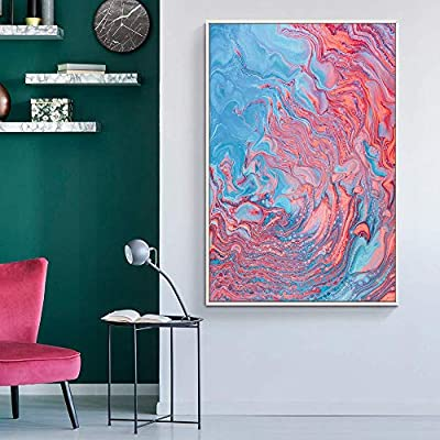 Unbelievable Object of Art, Floating Framed for Living Room Bedroom Abstract Colorful Painting for, Created By a Professional Artist