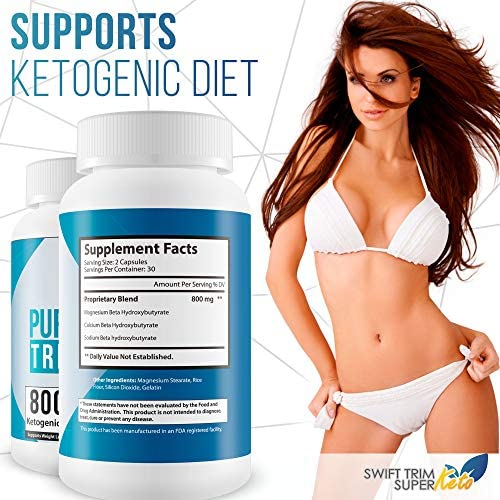 Pure Keto Trim 800 Pill - Keto Trim Diet - Burn More Fat & Lose More Weight WIth Accelerated Ketosis - Best Concetration 800 Mg Ketogenic Blend - Best Weight Loss - Best Keto Diet Pills 6