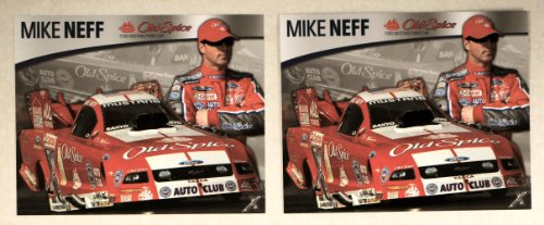 nhra-mike-neff-old-spice-ford-mustang-funny-car-john-force-racing-8x10-promo-cards-photo-on-front-dr