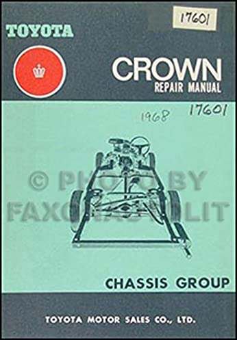 1969 1971 toyota crown chassis repair shop manual original no 98000 rh amazon com Toyota Parts Toyota Wiring Diagrams