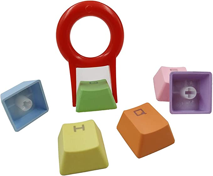 37 teclas PBT Keycaps Doble disparo Backlit Keycaps conjunto ...