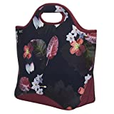 Built NY 5228010 Reusable Shopper Lightweight Neoprene Shopping Grocery Travel Tote Bag, one Size, Midnight Botanical