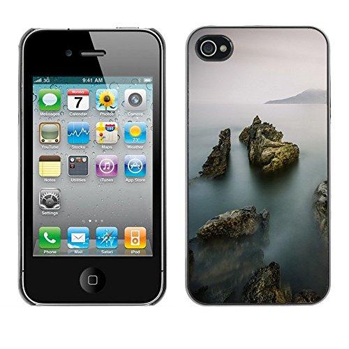 Premio Sottile Slim Cassa Custodia Case Cover Shell // F00001254 brouillard // Apple iPhone 4 4S 4G