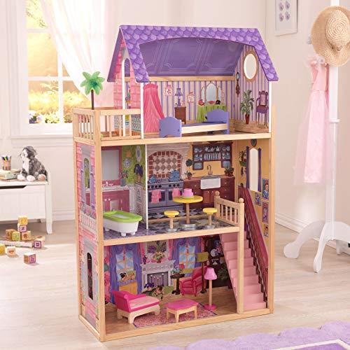 51vVHHVZG6L - KidKraft So Chic Dollhouse with Furniture