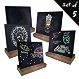 Rustic Standing Chalkboard Signs Tabletop 5 Pcs AZDENT 5×6 inch Mini Chalk Board Easel for Wedding Event Messenger Board