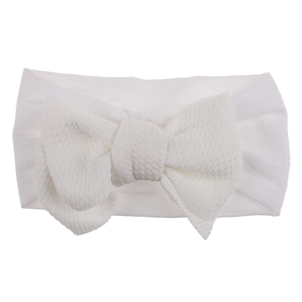 Baby Girls Headbands Baby Head Wraps Baby Headbands and Bows Chiffon Flower (White)