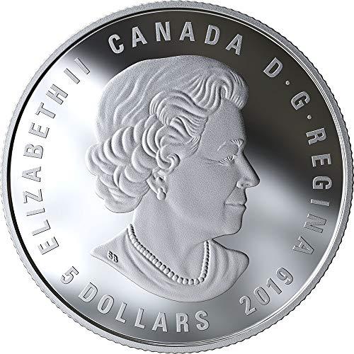 Aquarius 1 oz BU Silver Coin 5$ Canada 2018 Maple Leaf Zodiac