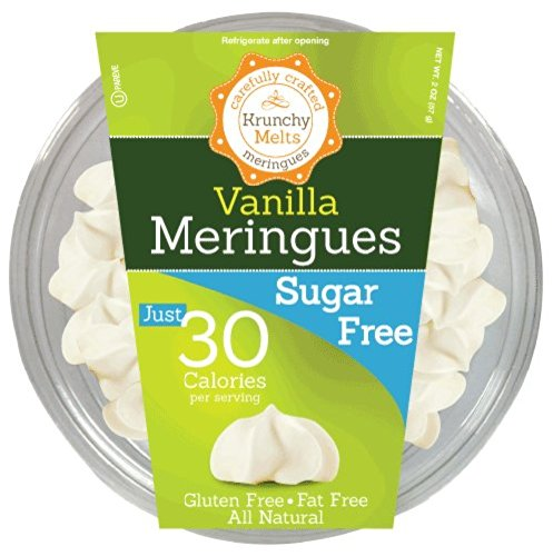 Sugar Free Meringue Cookies (Vanilla) • 30 calories per serving, All Natural, Gluten Free, Fat Free, Zero Net Carbs, Nut Free, Healthy Snack, Kosher, Parve • by Krunchy Melts