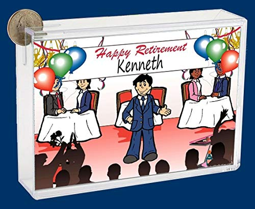 Personalized NTT Cartoon Side Slide Frame Gift: Retiring Male Gift, Retirement Party, Thank You Gift, Appreciation
