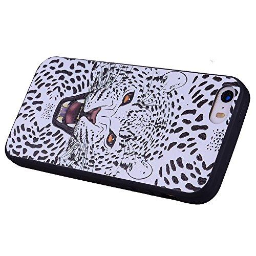 Color patrón de TPU suave nuevo caso para iPhone 5s / iPhone SE ( PATTERN : Unicorn ) Leopard