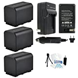 3-Pack NP-FV70 High-Capacity Replacement Batteries with Rapid Travel Charger for Select Sony Digital Cameras. UltraPro Bundle Includes: Camera Cleaning Kit, Screen Protector, Mini Travel Tripod