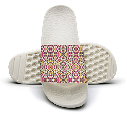 Free Patterns Definition Color Red Yellow Bath Slipper Anti-Slip For Men