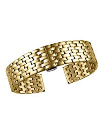23mm Interchangeable Gold Metal Watch Strap Top-Grade Stainless Steel Watch Belts for Men With Big Wrist