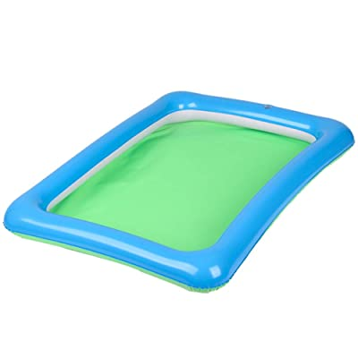Maserfaliw Inflatable Sand Box,Outdoor Beach Kids Children Sand Mud Model Toys Storage Inflatable Pad Box Tray Random Color: Beauty [5Bkhe0207183]