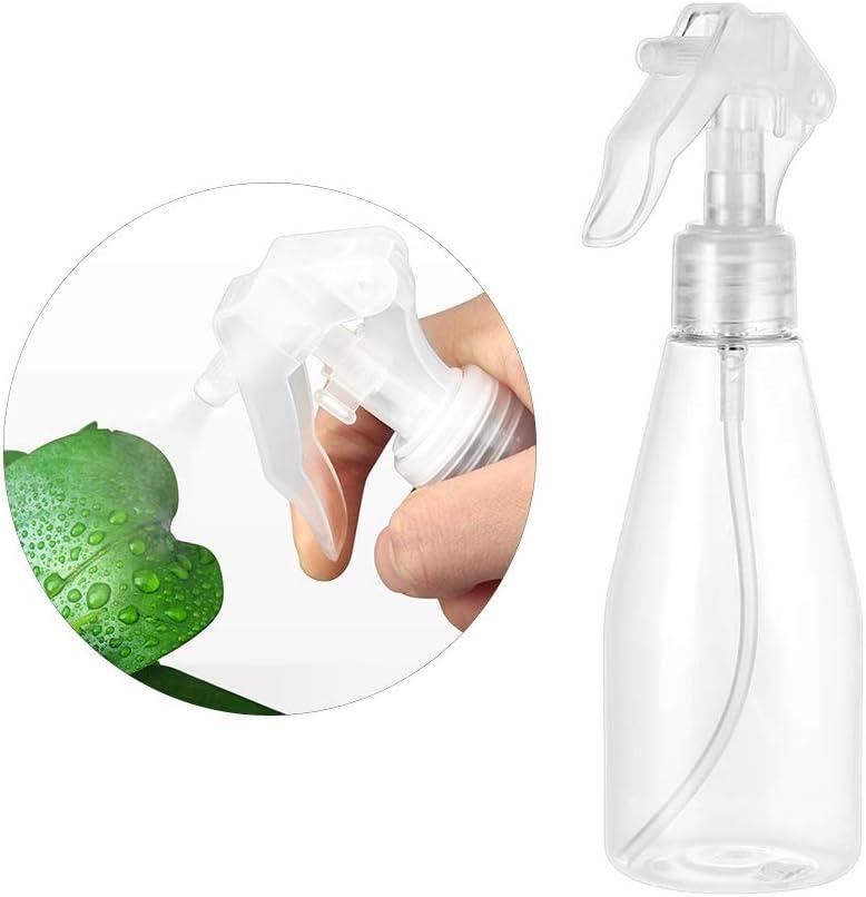 Blanco Yardwe 5Unidades Botella de Aerosol Vac/ías Pl/ástico Transparente Botella de Spray Jardiner/ía Viaje Peluquer/ía 200ml