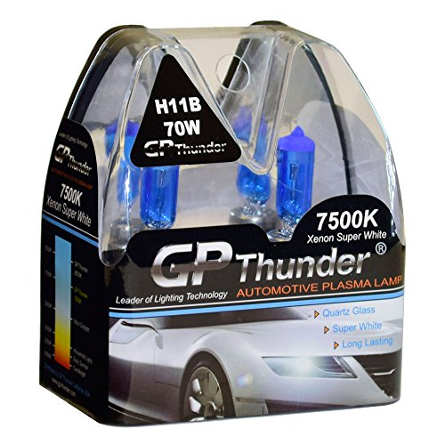 GP Thunder GP75-H11B Super White H11B 12V 70W Halogen Xenon Bulb with Quartz Glass (High Wattage 7500K 2 Bulbs)