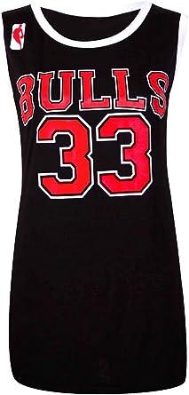 Camiseta de baloncesto para mujer, de los Chicago Bulls de la NBA, 33, como las famosas de Estados Unidos BULLS: BLACK 38: Amazon.es: Ropa y accesorios