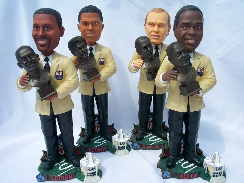 4 PLAYER NFL HALL OF FAME INDUCTION BOBBLEHEAD STATUE SET ALLEN BETHEA LOFTON by Forever Collectibles