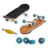 Toys : Delight eShop Professional Mini Fingerboards/ Finger Skateboard -1 Pack (Light Blue Bearing Wheels)