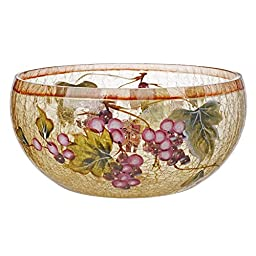 5th Avenue Collection Tuscuny Cracked Glass Candy, Potpourri Bowl - Grape Décor