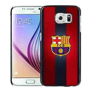 High Quality Samsung Galaxy S6 Skin Case ,fc barcelona Black Samsung Galaxy S6 Screen Cover Case Popular And Unique Custom Designed Phone Case