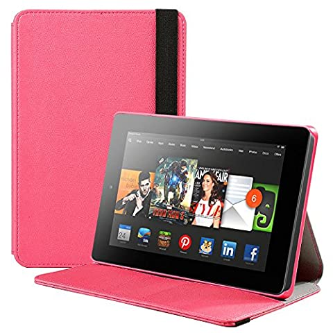 Fire HD 7 Case, SUPCASE Slim Lightweight PU Leather Hard Shell Case Cover for Amazon Fire HD 7 (4th Generation) 2014 Release, (Kindle Fire 7 2014 Charger)