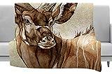 KESS InHouse Wildlife Africa 1'' Brown Animals Fleece Throw Blanket x, 40'' x 30''